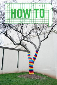 Yarnbombing...the unauthorized placement of knitted or crocheted items on statues, posts, and other public structures  :-)