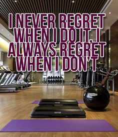 Don't regret.