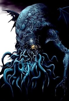 Image of the great Cthulhu via The Lovecraftsman http://www.thelovecraftsman.com/2011/09/gallery-101-images-of-great-cthulhu.html