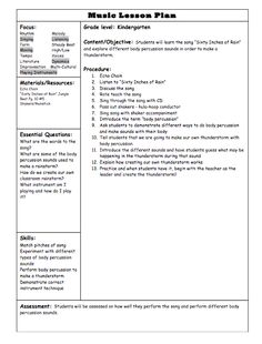 FREE! - My Elementary Music Lesson Plan Template | Lesson plan ...