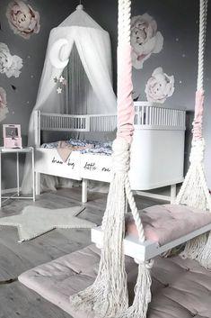 11 Cute Nursery Baby Room Ideas for Baby Girl Girls Bedroom Decor White Girls Rooms, Pastel Girls Room, Little Girl Rooms, Baby Room Ideas For Girls, Baby Girl Bedroom Ideas, Baby Girls, Cute Bedroom Ideas, Cute Room Decor, Baby Room Decor