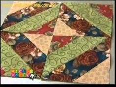 Patchwork Ana Cosentino: String Quilt Block - YouTube........ensina utilizar regua para angulos