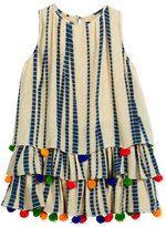 Hemant and Nandita Sleeveless Silk Chiffon Dress, Multicolor, Size 8-12