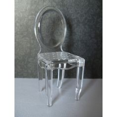 Miniature clear chair from PRD