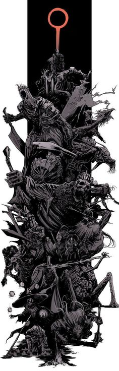 DarkSouls3 - bosses splash by uger.deviantart.com on @DeviantArt