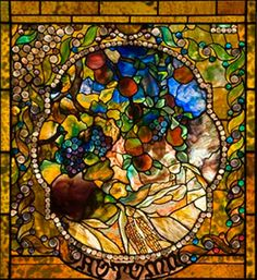 "Four Seasons ""Autumn"" by Louis Comfort Tiffany"