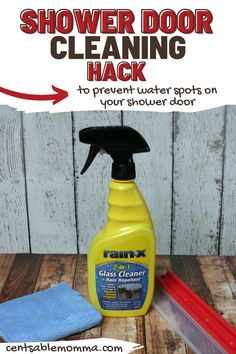 Check out this hack for keeping your shower door clean that will completely change your cleaning routine (in a good way!). It's a great way to prevent water spots on your shower door. Clean Shower Doors, Water Spots, Shower Cleaner, Hard Water, Glass Shower, Household Tips, Spring Cleaning, Cleaning Hacks, Routine
