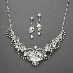 Affordable Elegance Bridal - Freshwater Pearl and Crystal Wedding Jewelry Mariell  4061S- sale!, $56.99 (http://www.affordableelegancebridal.com/freshwater-pearl-and-crystal-wedding-jewelry-mariell-4061s-sale/)