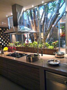Растения на кухне.