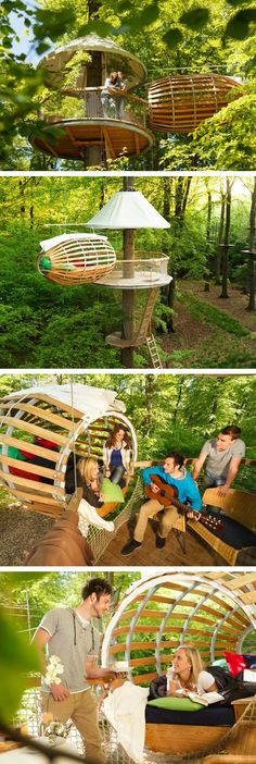 ☮ From Erlebnest - a Minimalist TreeHouse, More Wire Than Wood media.treehugger....