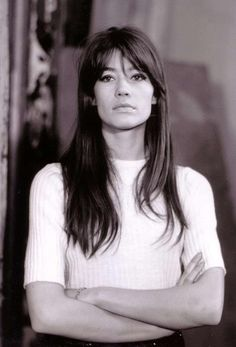 Francoise Hardy is not afraid of eyeliner.