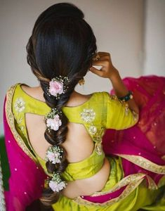 Ditch the same old ponytail and braid, and get inspired with these ten jaw-dropping hairstyles for Indian weddings. From a retro hairdo to a crimped hairstyle let's take a look at what's trending for long hair. Saree Hairstyles, Plaits Hairstyles, Wedding Hairstyles For Long Hair, Braids For Long Hair, Bride Hairstyles, Open Hairstyles, Simple Hairstyles, Indian Hairstyles For Saree, Fashion Hairstyles