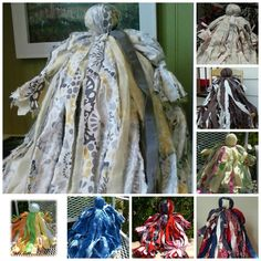 Vintage looking Rag Dolls made from strips of cloth.  If you would like to order you must visit the link to contact.  Check out their albums for more designs.