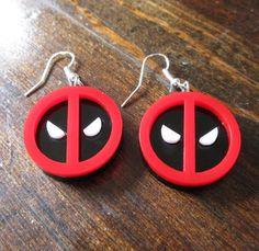 Deadpool Symbol Logo Emblem Face Pendant Dangle by FoxyFunk