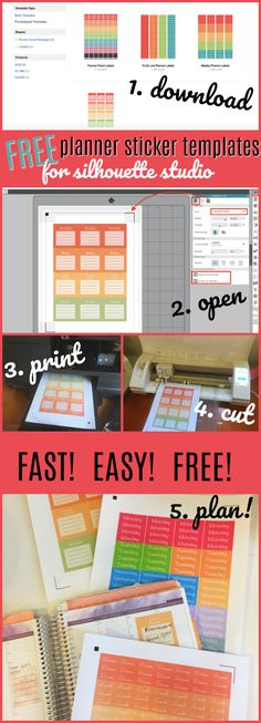 Start to finish - learn how to make your own planner stickers with Silhouette CAMEO