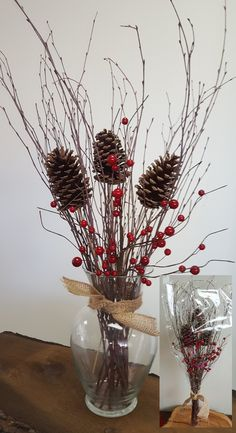You'll love the 3 Piece Birch Twig with Stemmed Pine Cones and Berries Bouquet Set at Wayfair - Great Deals on all Décor products with Free Shipping on most stuff, even the big stuff.