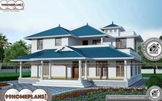 House Model Images – 2 Story 4004 sqft-Home House Model Images – Double stor… - All About Balcony Home Design Images, House Design Pictures, Best Modern House Design, Cool House Designs, Beautiful Home Designs, Beautiful Homes, Double Storey House, Low Cost Housing, Indian Home Design