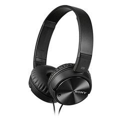 awesome Sony MDRZX110NAB.CE7 - Auricular plegable (cancelación de ruido, autonomía de 80 horas, micrófono incorporado, control remoto para smartphones), negro