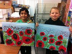 Poppies are in full bloom in the art room! 2nd grade artists in Ms. Mottola's class finished their poppy paintings today. These will eventually be photographed and uploaded to their online art...
