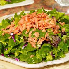 BabyZone: Healthy Recipes for Weight Loss | Spring Greens with Salmon and Apricot-Ginger Vinaigrette