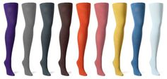 I think bright tights are super cute, but I don't think I can wear them without looking like a 12 year old