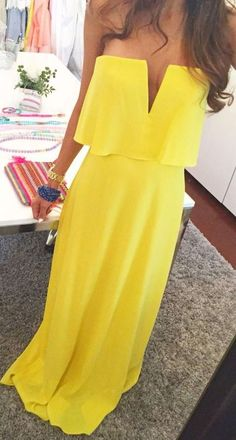 #summer #outfits / dress in yellow