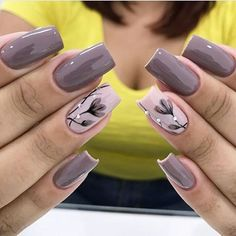 23 Super Ideas For Nails Sencillas Black Fancy Nails, Diy Nails, Cute Nails, Spring Nail Art, Spring Nails, Stylish Nails, Trendy Nails, Beauty Nail, Beauty Makeup