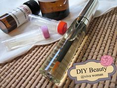 DIY cuticle oil pen, in a recycled lip gloss bottle!