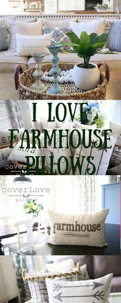 Farmhouse pillow with inserts Rustic Luxe, Rustic Farmhouse Decor, Rustic Decor, Farmhouse Style, Antique Buffet, Sunroom Ideas, Decorating Ideas, Decor Ideas, Burlap Pillows
