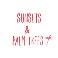 Sunsets & Palm trees by My Paperstories instagram.com/mypaperstories