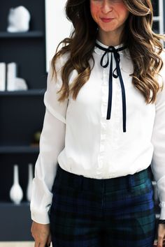 Pants // Shirt I bet y'all have figured out by now that tartan and bows are two of our favorite wardrobe staples. Some element of either have appeared in almost
