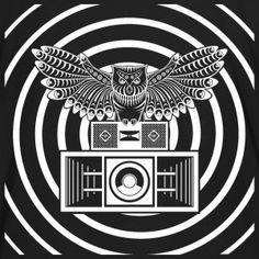 sowa spirala System dźwięku - Ekologiczna koszulka męska