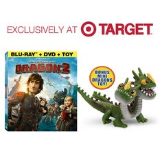How to Train your Dragon 2 - Target Exclusive - Bonus Mini-Dragons Toy Included (Blu-Ray/DVD/Toy)