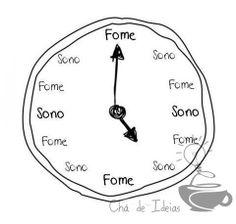 Horas de fome e horas de sono