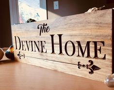 Wooden Sign Family Name Carved Welcome Plaque Contemporary Sign Modern Signs Personalized Bridesmaid Gifts Bridesmaid & Groomsman Gifts