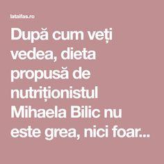 După cum veți vedea, dieta propusă de nutriționistul Mihaela Bilic nu este grea, nici foarte restrictivă. Se pot consuma Sushi, Deserts, Food And Drink, Cats, Per Diem, Salads, Gatos, Desserts, Dessert