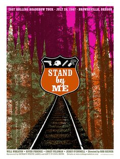 Stand By Me – Poster - Canvas Print - Wooden Hanging Scroll Frame - Decor Your Home Excellent Movies, Great Movies, Canvas Wall Art, Canvas Prints, Alternative Movie Posters, Stand By Me, Book Illustration, Les Oeuvres, Rock And Roll