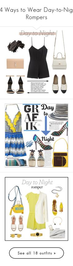 """""""14 Ways to Wear Day-to-Night Rompers"""" by polyvore-editorial ❤ liked on Polyvore featuring DayToNight, rompers, waystowear, Chanel, Dolce&Gabbana, Yves Saint Laurent, Bobbi Brown Cosmetics, romper, Missoni and Missoni Mare"""
