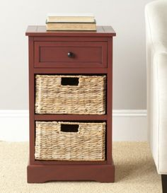 Side Tables With Storage black bedside table storage drawer wicker baskets nightstand side