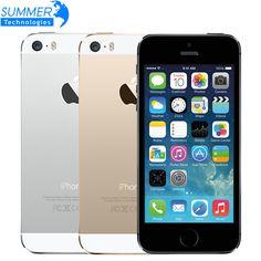 """Apple iPhone 5S Оригинальный Разблокирована Сотовых Телефонов iOS 8 4.0 """"IPS HD…"""