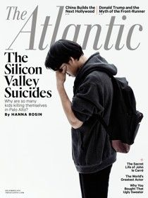 """Why are so many kids with bright prospects killing themselves in Palo Alto? """"What we've lost, perhaps, is a sense that there may be things about them we can't know or understand, and that that mysterious quality, separate from us, is what we should marvel at."""""""
