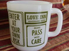 Vintage Milk Glass Love Mug  Messages of love on by TheClassyLady, $15.00