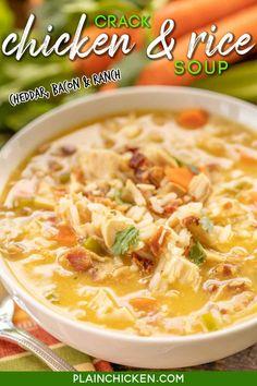 Ravioli Soup, Chicken Ravioli, Chicken Tortilla Soup, Crack Chicken, Chicken Soup, Easy Soup Recipes, Chicken Recipes, Cooking Recipes, Healthy Recipes