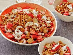 Strawberry-Pretzel Snack Mix recipe from Food Network Kitchen via Food Network