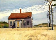 Edward Hopper,  House with dead trees   1932                              …