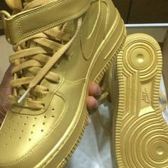 Custom Gold Nike Air Force 1
