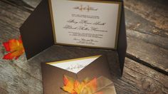 Wedding Invitation - Fall Leaves II - Enchanted Moments - Invitations & Cards