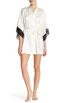 Josie - Lace Trim Robe