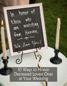 wedding sign ideas to honor decreased loved ones for wedding ceremony