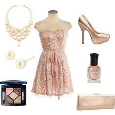 I want every single thing on this polyvore. GORGEOUS @Adabelles.com party dress for New Year's or any Christmas party.